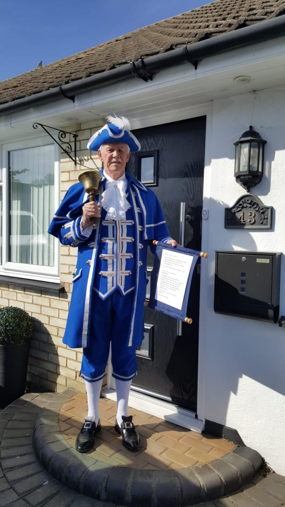 Southend-on-Sea Town Crier Announces Southend Emergency Fund